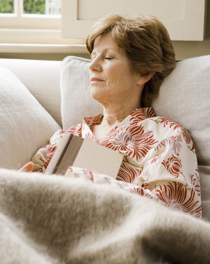 Woman resting in Assisted Living home