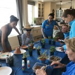 The Gardens comes to The Hacienda with Juliet Niehaus having a mini course on succulents, where they come from and tips on potting them.  The crowd favorite was the