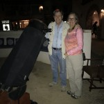 David and Pam Rossetter with telescopes in our Springs Conversation Circle.