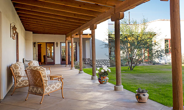 Hacienda Memory Care Tucson Porch and Courtyard