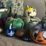 Artistic Pumpkins adorning our Courtyard!