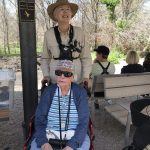 This extraordinary outing was organized by our resident, Virginia, who at 100 years old is still an avid birdwatcher and helped us organize the field trip.