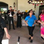 The lively and fun Tesoro de Tucson Mariachi Band was enjoyed by everyone at our Treinta de Mayo fiesta...dancing, great food and our own piñata contest made for a wonderful all campus event for May!!