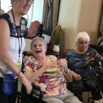 Residents and associates enjoying the music and the fun of all being together.