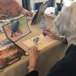 Every Wednesday there is Art with Eliza, where the residents put their creative license to work!